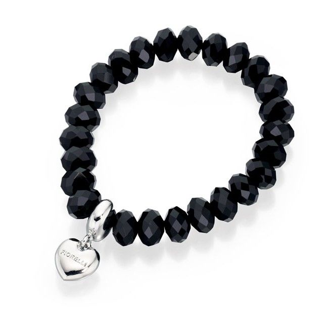 Designer Bead Charm Elasticated Black Bracelet by Fiorelli - Make a statement with this designer bracelet by the renowned and high fashion Fiorelli brand, is beautifully produced with white or yellow alloy and glass beads: http://ow.ly/XA0YG
