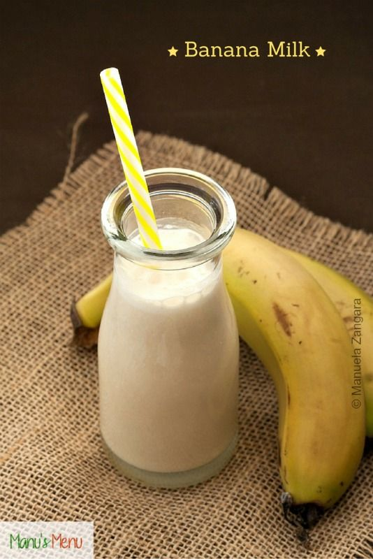 Banana Milk - a quick and easy recipe for a delicious and #healthy #banana flavoured #milk.
