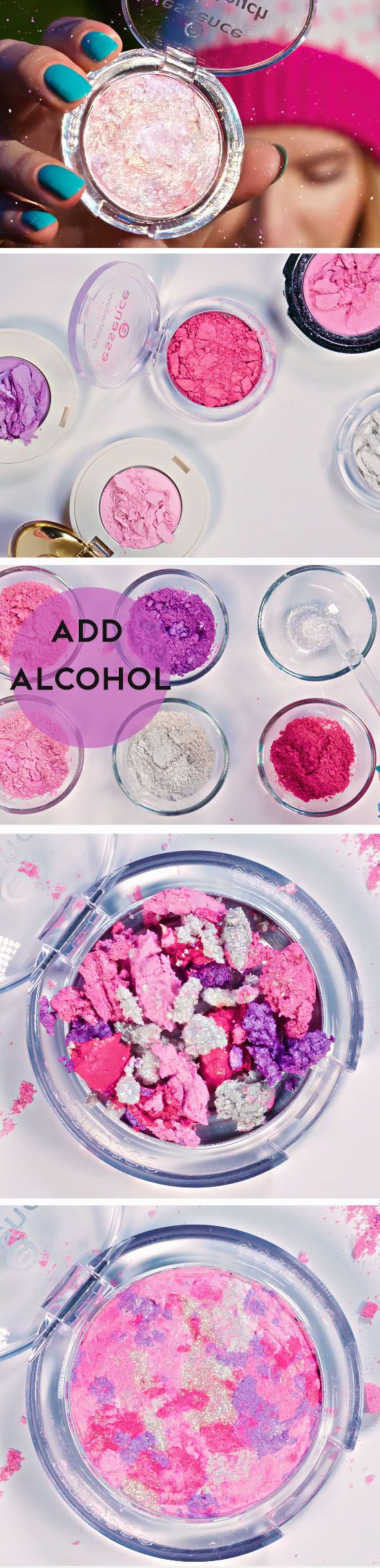 Use Old Shadows to Make Galaxy Blush | Awesome Beauty Hacks Tips and Tricks | Easy Makeup Hacks Every Girl Should Know