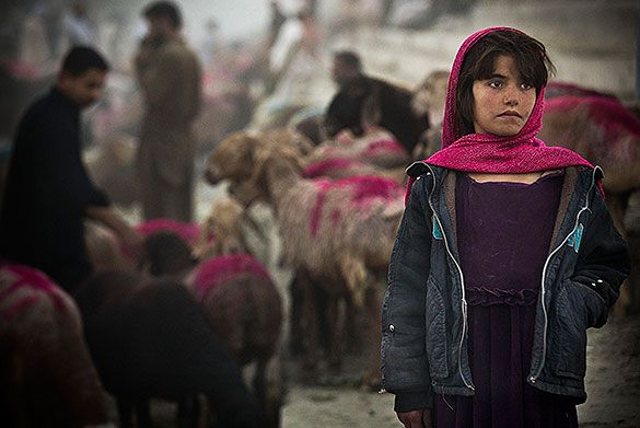 14. Oktober 2013: Ein afghanisches Mädchen im Zentrum von Kabul