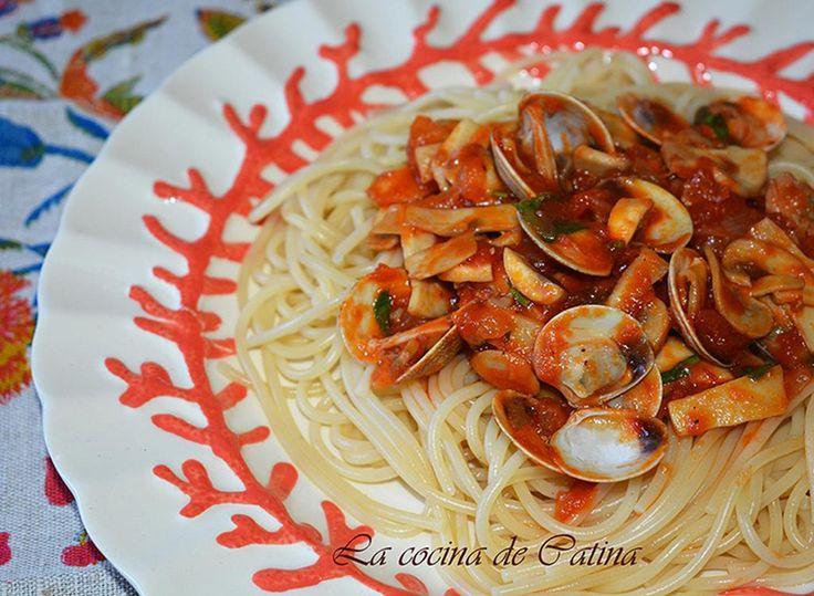La cocina de Catina: Espaguetis mar y montaña