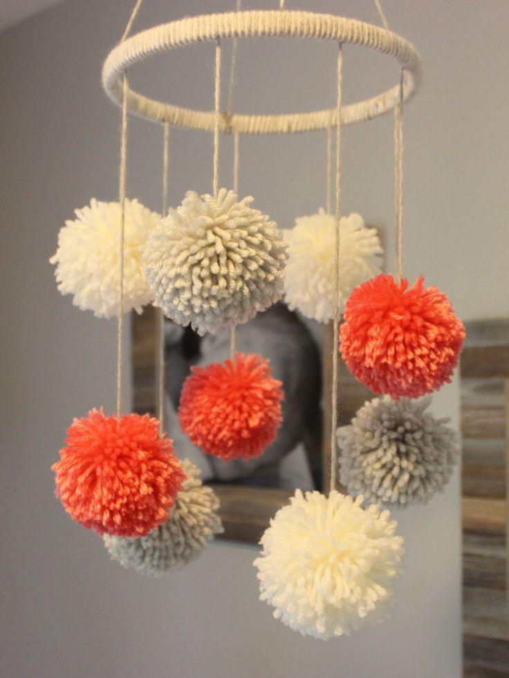 17 best ideas about pom pom mobile on pinterest pom poms for Pom pom crafts