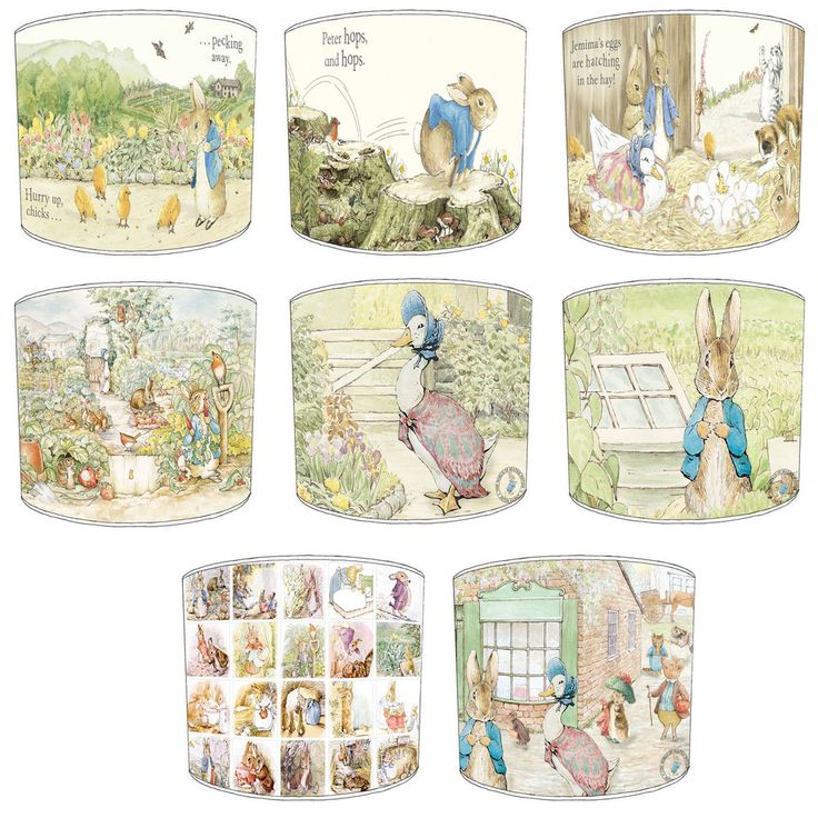 Lampshade Ideal To Match Beatrix Potter Peter Rabbit