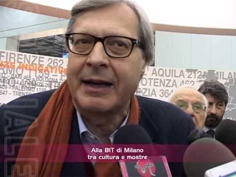 VIDEOTOLENTINO  Achille Ginnetti con  Sgarbi e  Papetti alla BIT di Milano tra cultura e mostre