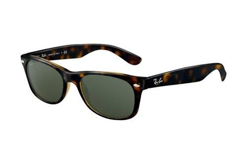 Discount Ray Ban Wayfarer RB2132 Sunglasses Light Havana Frame Dark Green Polarized ALW Sale