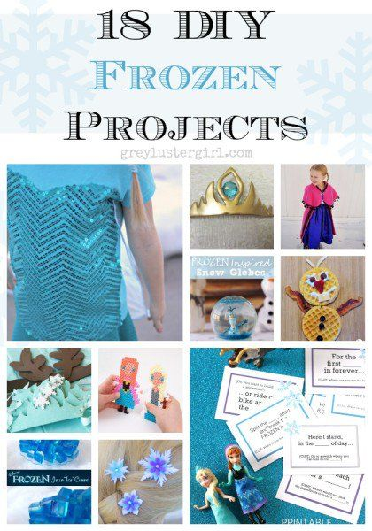 18 DIY Frozen Projects and Tutorials