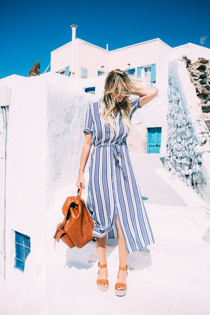 Dash of Darling Shares What to Wear in Pyrgos, Santorini Greece