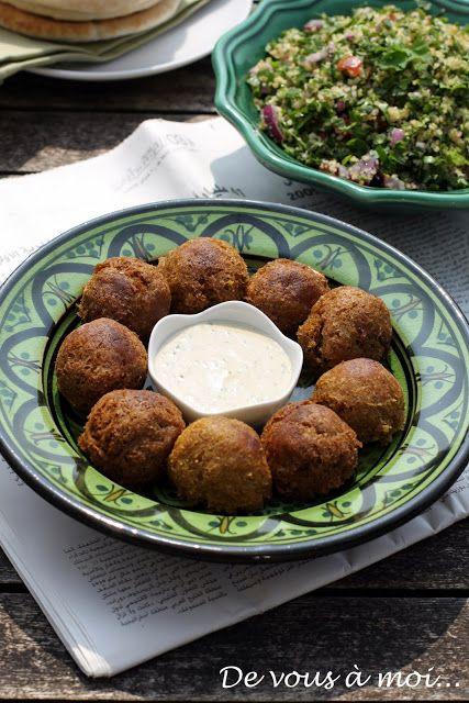 falafels et taboulet libanais