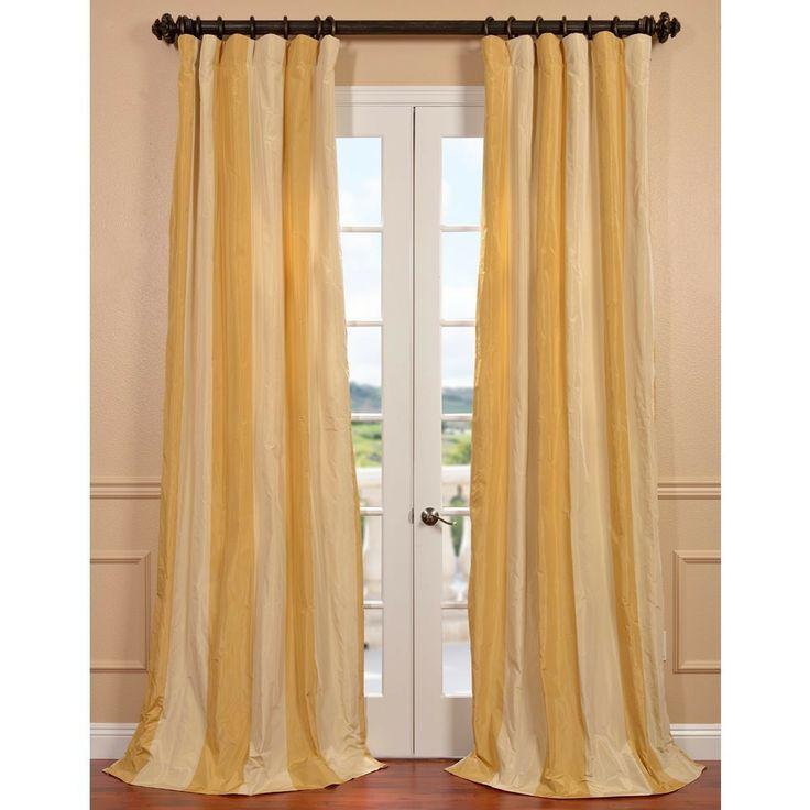 Bergamo Faux Silk Taffeta Stripe Curtain