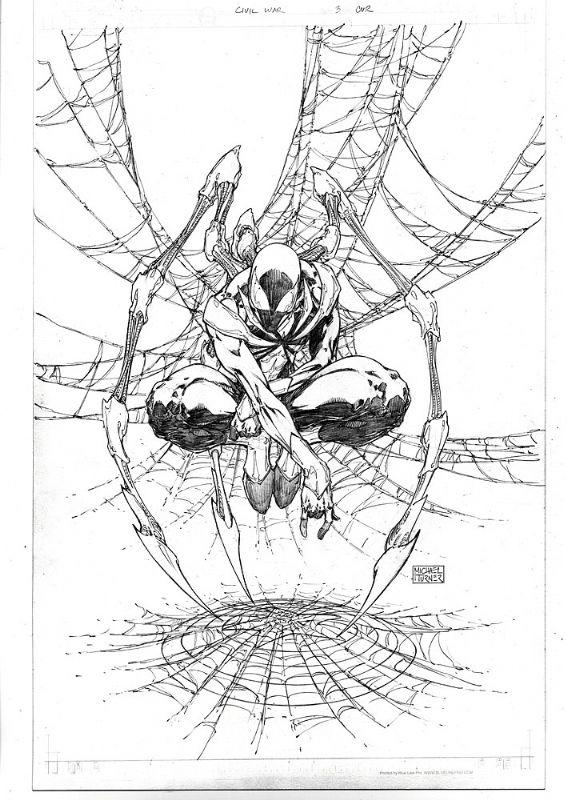 Michael Turner - Civil War #3 Cover Comic Art