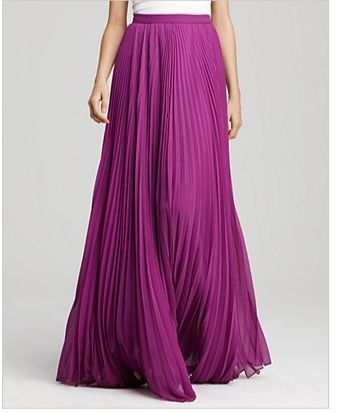 Alice and Olivia purple maxi skirt
