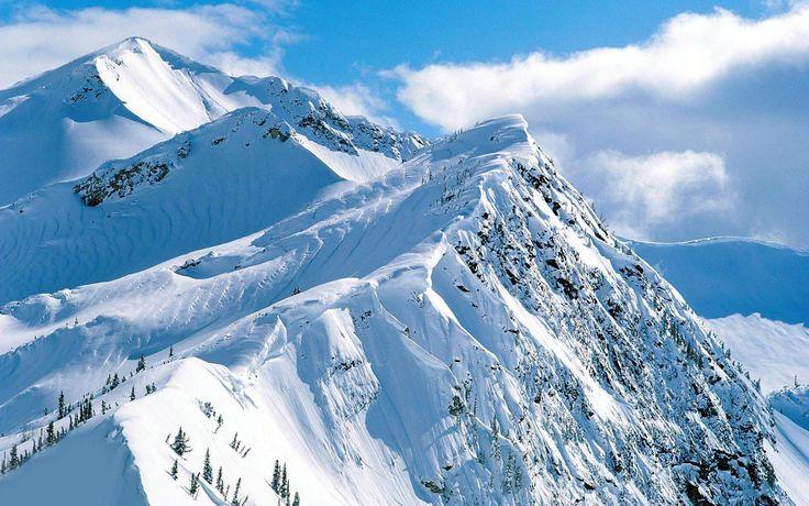 cool snowy mountain range