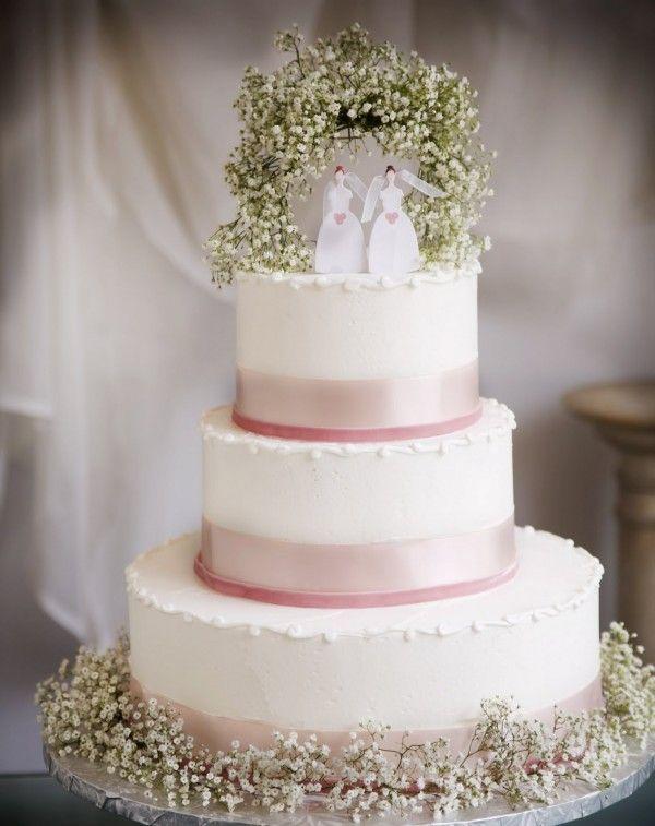 Baby's Breath Cake Topper   Weddingbells.ca