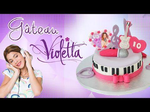 Violetta in pasta di zucchero per torta - Fondant Violetta Disney Cake Topper - YouTube