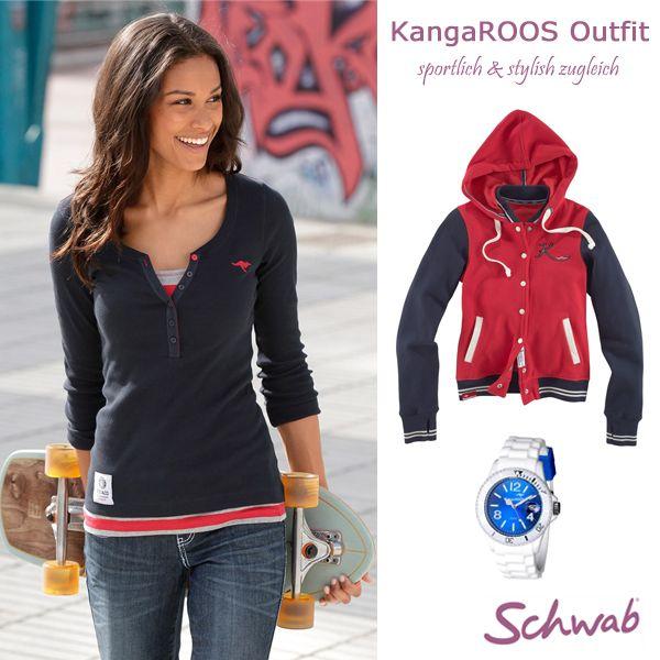 Das sportliche #Outfit von #KangaROOS ist ideal für die Übergangszeit. Gefällt es Euch?