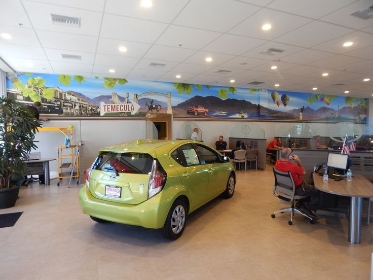 Interior branding: Temecula Valley Toyota located in Temecula, CA. Contact DesertWraps.com at 760-935-3600. #Temecula #InteriorBranding #Toyota #Branding #Dealership #California #SouthernCalifornia