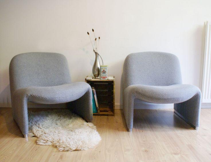 Set vintage Alky fauteuils. Retro design stoel. Artifort 2 x