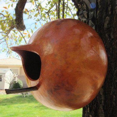 Gourd Bird House Natural Primitive Pumpkin Decoration