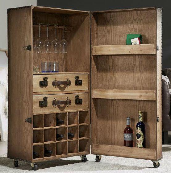 Mueble bar baul con ruedas hast http www - Ruedas para muebles ...