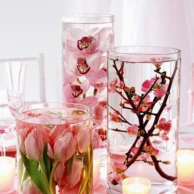 Autossustentável: Arranjo com flores submersas
