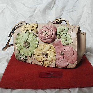 BEAUTIFUL Valentino Leather Flower Flap Bag