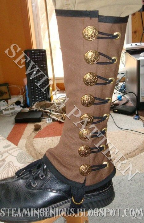 Steampunk Military Spats Sewing Pattern by SteamIngenious on Etsy, $5.00