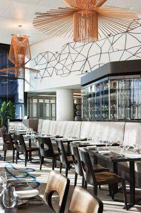 Maze restaurant at the Crown Metropol Hotel Melbourne designed by Bates Smart Melbourne