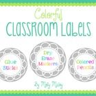 These classroom labels are perfect to organize your classroom! There are 78 labels in two sizes.   Smaller labels include:  Pipe cleaners Clothes P...