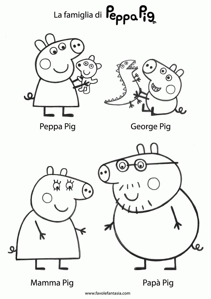 Peppa Pig Coloring Pages #peppapig Peppa Pig Characters