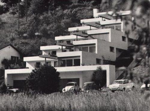 "Terrace Houses ""Pfaffenziel"" (1962-63) in Untersiggenthal, Switzerland, by Robert Frei"