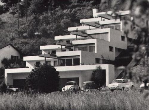 "Terrace Houses ""Pfaffenziel"" (1962-63) in Untersiggenthal, Switzerland, by Robert Frei"