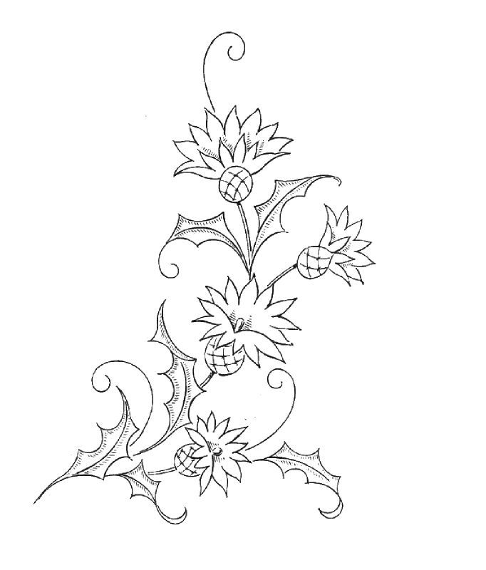 Nice flower pattern for embroidery