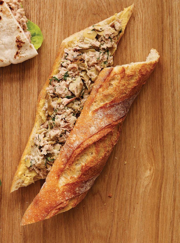 Recette de Ricardo de sandwich au thon, artichauts et citron