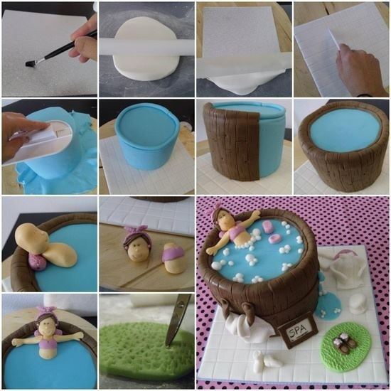 Hot Tub Cake Tutorial Cake Decorating Videos Pinterest