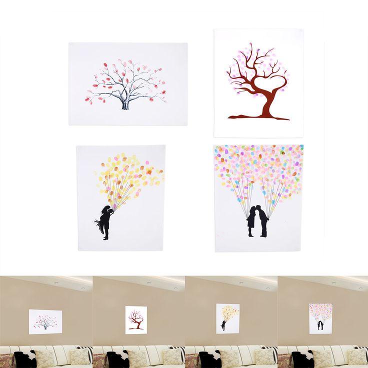 Small Fingerprint Live Oak Tree Wedding Guest Book Hand Drawn: 1000+ Ideas About Thumbprint Tree Wedding On Pinterest