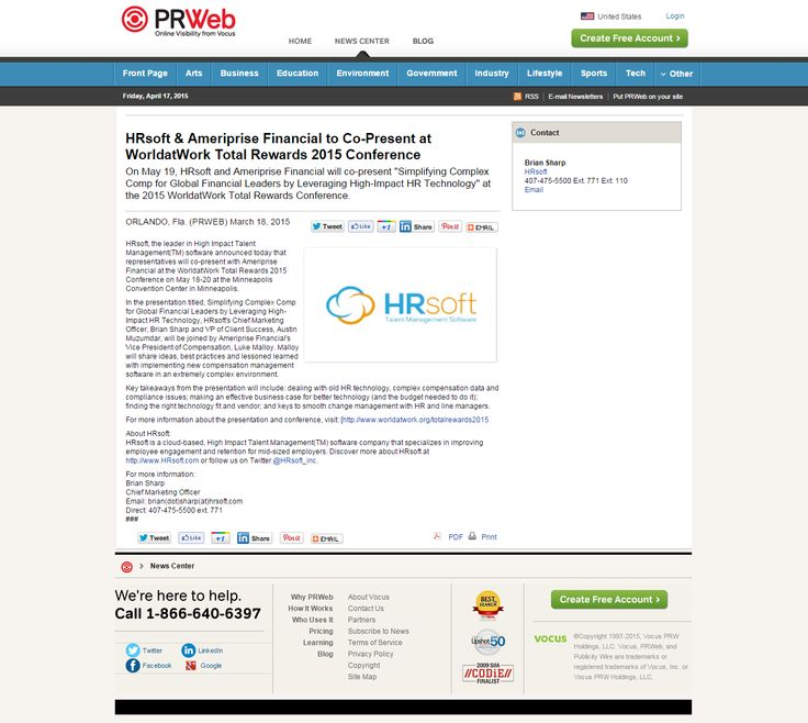 HRsoft is the leading provider of Cloud-based High Impact Talent Management solutions in North America. -- Compensation Planning -- http://www.prweb.com/releases/2015/03/prweb12591063.htm
