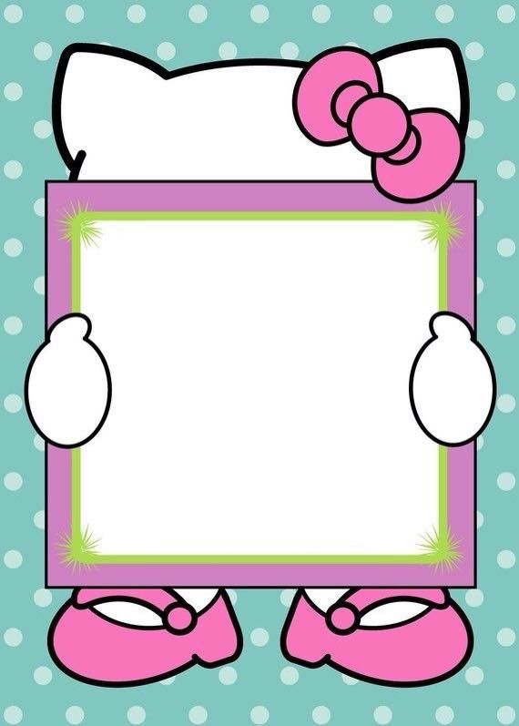 82 best hello kitty birthday ideas images on pinterest | hello, Invitation templates