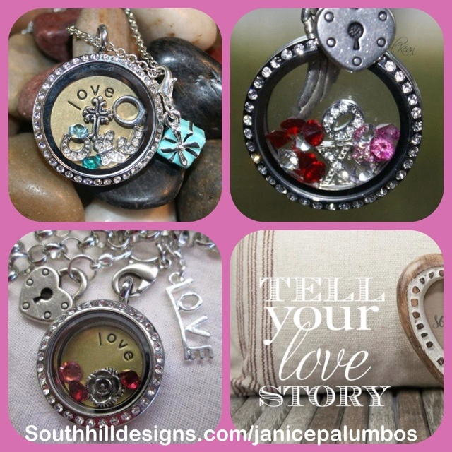 Tell your love story with a South Hill Designs Locket!  Or join my team!!    www.southhilldesigns.com/janicepalumbos