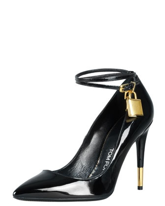 Padlock Ankle-Strap Pump by Tom Ford. TomFord Pumps shoes fashion