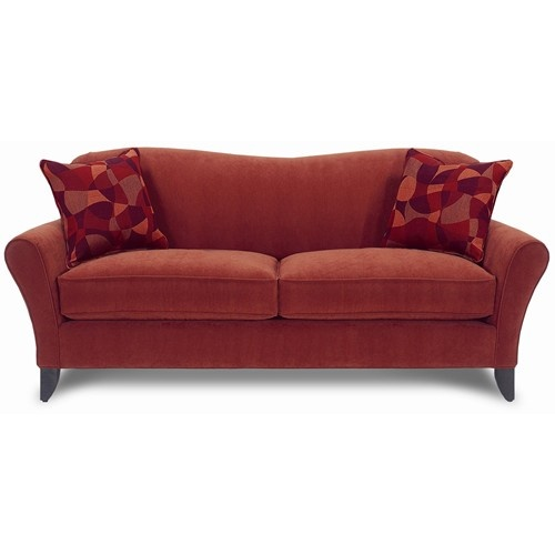 Harrison Contemporary Sofa With Flair Arms Exposed Tapered Wood Legs By Rowe Baer S Furniture