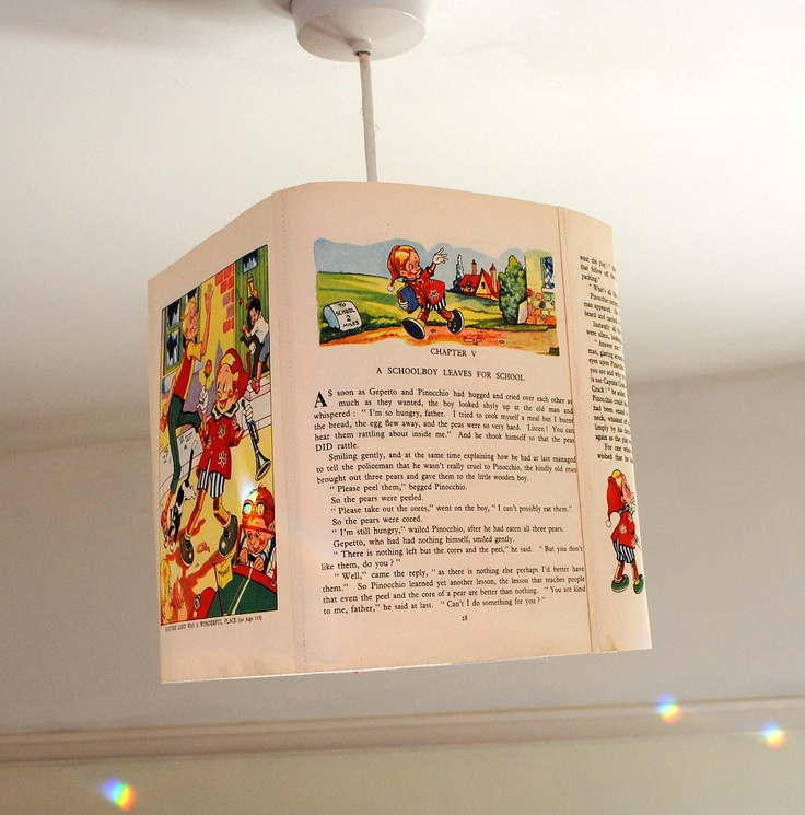 123 best cute childrens lampshades nursery lighting ideas pinnochio lamp shade vintage childrens book paper lampshade ceiling pendant lighting handmade uk 4250 mozeypictures Images