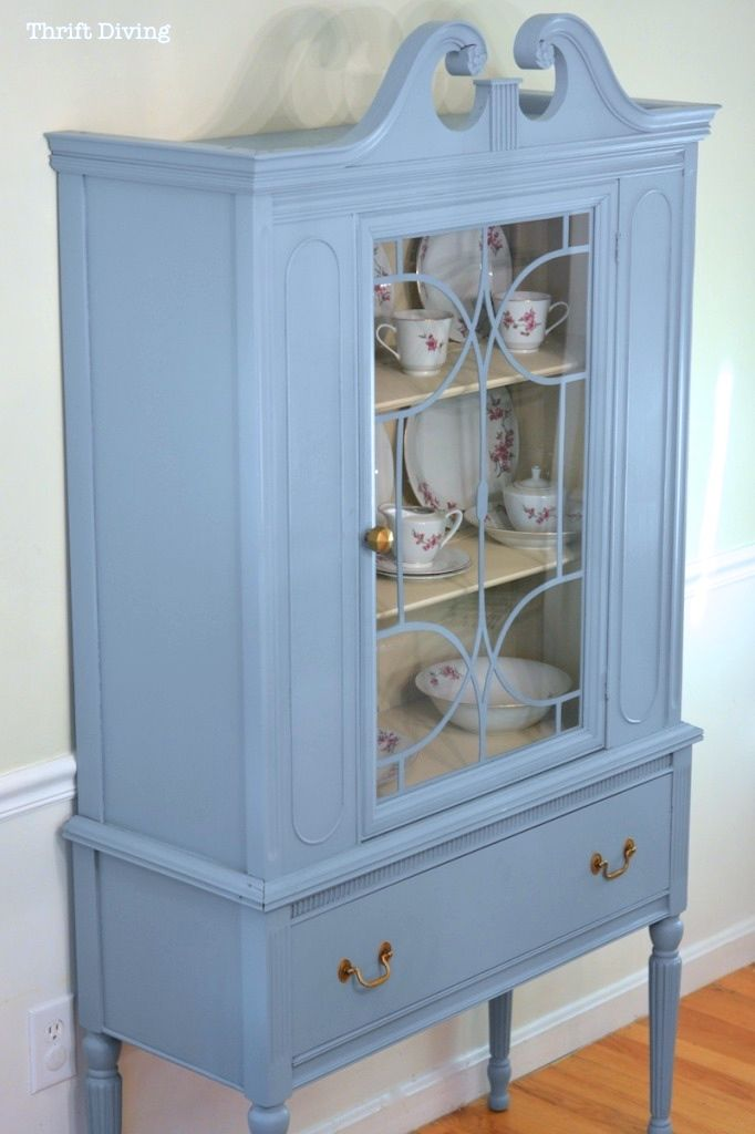25+ best ideas about China Cabinet Painted on Pinterest | Painted china hutch, Refinished china ...