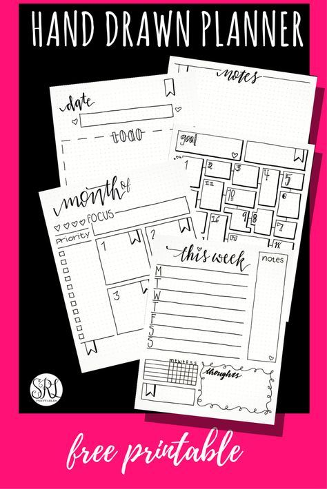 I'm back to bullet journaling with a pretty mid-year planner stack and a free hand drawn printable for you.