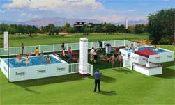 Vegas PGA Tournament to add club scene element with pools around the final three holes. Six pools are being stragically placed  to enhance the fan experience and offer new entertainment opportunities. Two of the pools are part of the Zappos Fan Experience that already includes a nine hole mini golf ocurse and other interactive golf activities. Tickets into the 'club' are $30 in advance, $35 at the door.