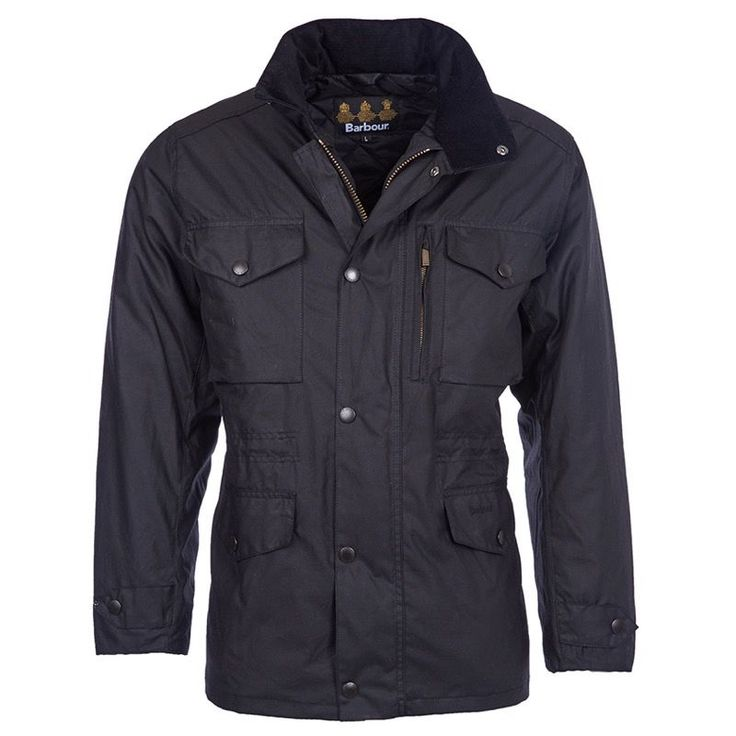 Barbour Sapper Waxed Jacket - The Sapper is a military-inspired men's waxed jacket with a weatherproof matte finish and a flexible, lived-in feel that gets even better with age. Using traditional 6oz Sylkoil waxed cotton outer and a warm quilted Nylon lining, this jacket is designed for those who brave the toughest conditions.