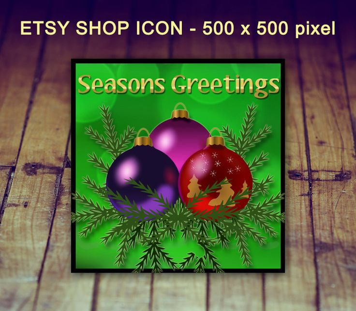 Etsy Shop Icon - Christmas Shop Icon, Holiday Shop Icon, Etsy Christmas Icon, Pre-sized Shop Icon, Christmas Tree Icon, Etsy Graphics by LittlePrintsOttawa on Etsy