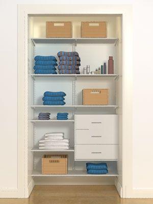 Sweet Little Organized Linen Closet