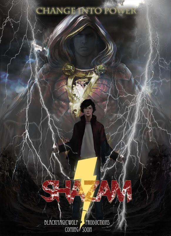 Shazam fake movie poster  Superheroes  Superhero Film