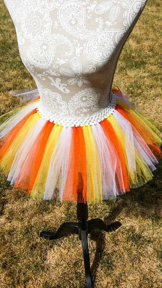 Adult Candy Corn Tutu Plus Size Halloween Party
