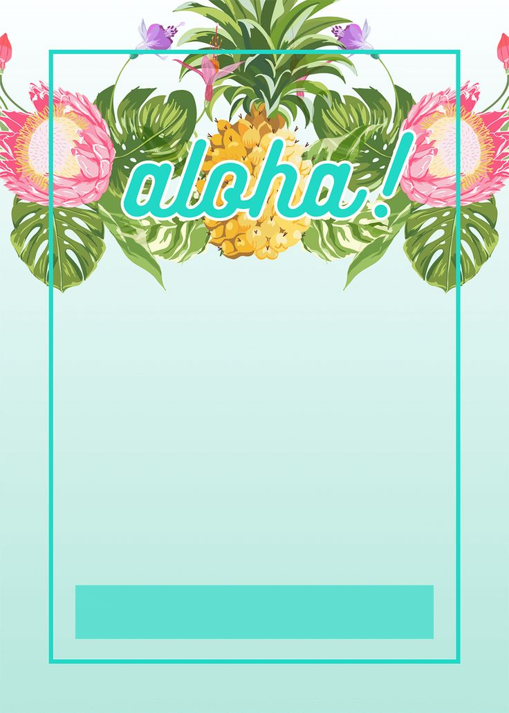 Pineapple Luau Perimeter - Free Printable Birthday Invitation Template | Greetings Island